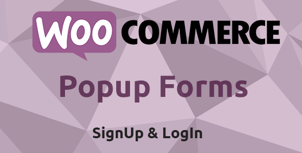 WooCommerce Popup LogIn & SignUp Forms